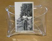 Acrylic Clear Plastic Envelope Shaped Holder for photos or papers- letter holder, photo holder, envelope, home decor