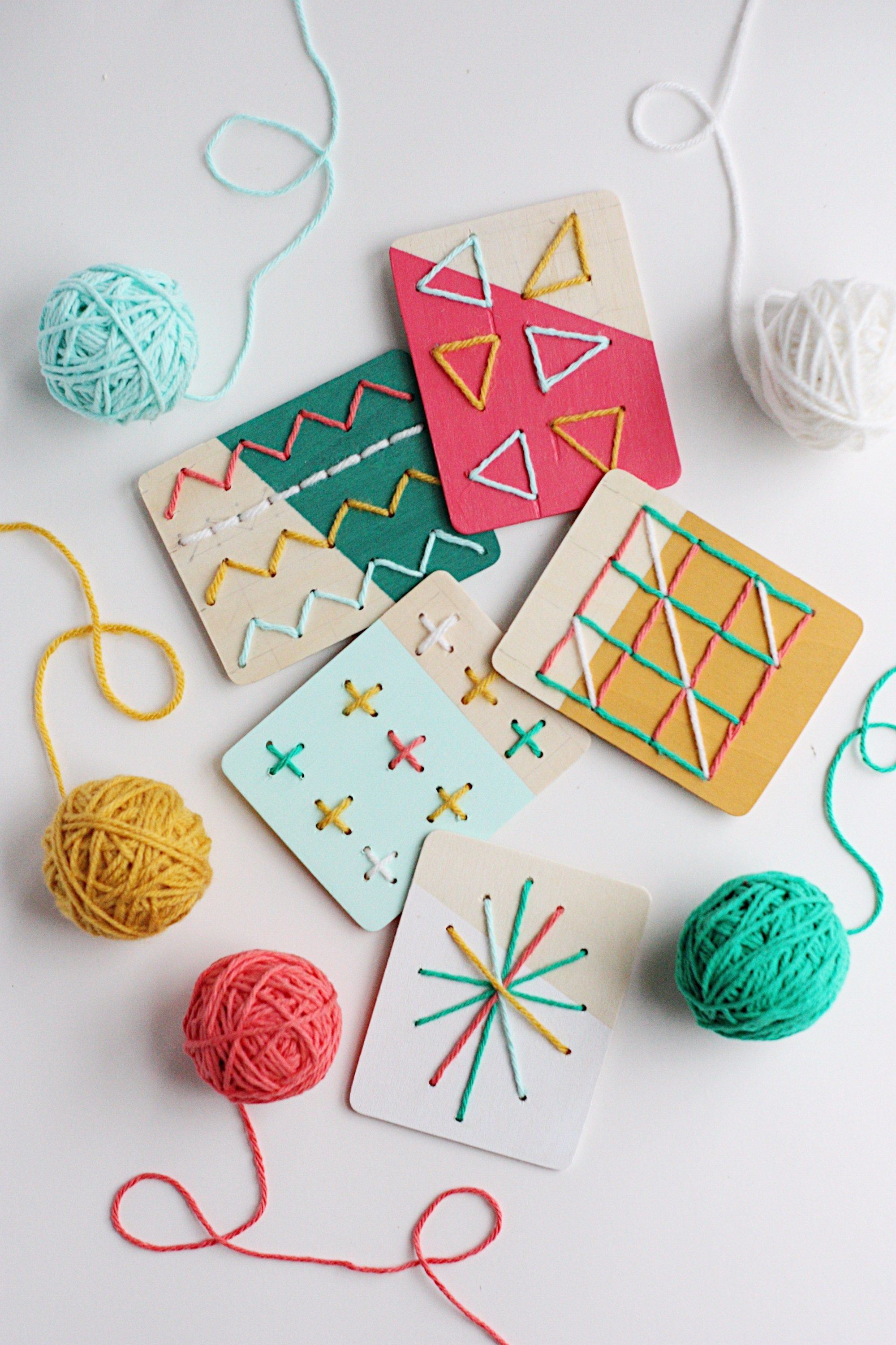 Photo of DIY Dipped Stitching Boards for Kids