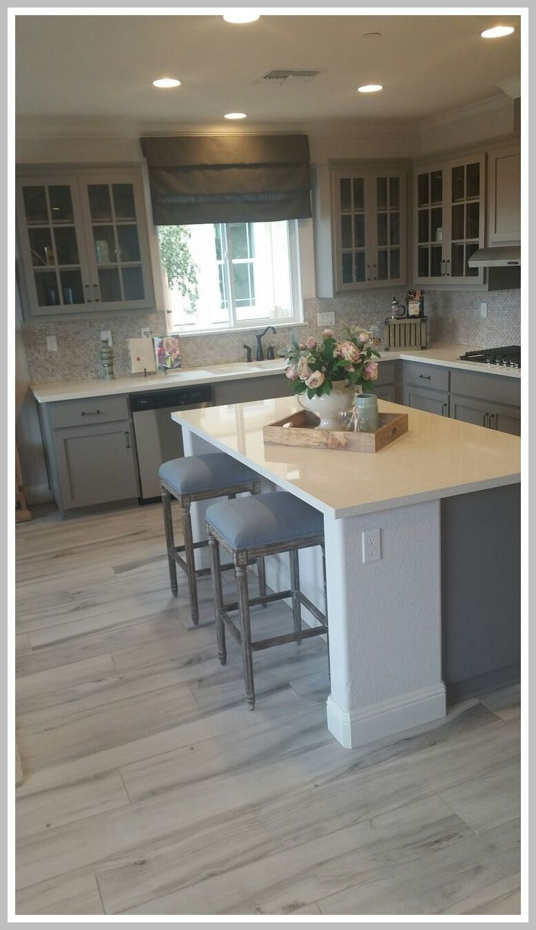 55 Reference Of Gray Kitchen Cabinets Wood Floors In 2020 Kitchen Renovation Kitchen Flooring Grey Kitchen Cabinets