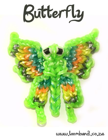 Butterfly Loom Band Charm Tutorial, instructions and videos on hundreds of loom band designs. Shop online for all your looming supplies, delivery anywhere in SA.