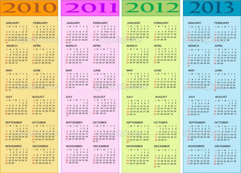 2010 2011 Calendars Calendar 2010 2011 2012 2013 Stock Vector C Jelena Zaric April March Illustration Calendar Free Calendar
