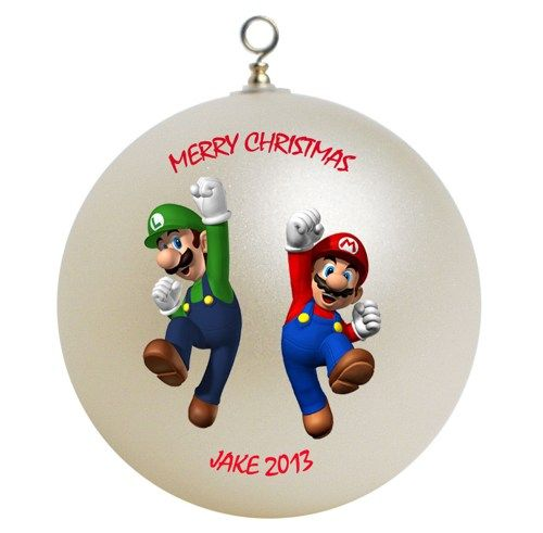 mario bros ornaments - Super Mario Brothers Personalized Custom Christmas Ornament