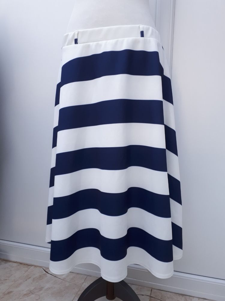 3d57ac4a773 Atmosphere Ladies Size 20 Blue White Stripe Skirt Elasticated Waist Winter  Curve  fashion  clothing  shoes  accessories  womensclothing  skirts (ebay  link)