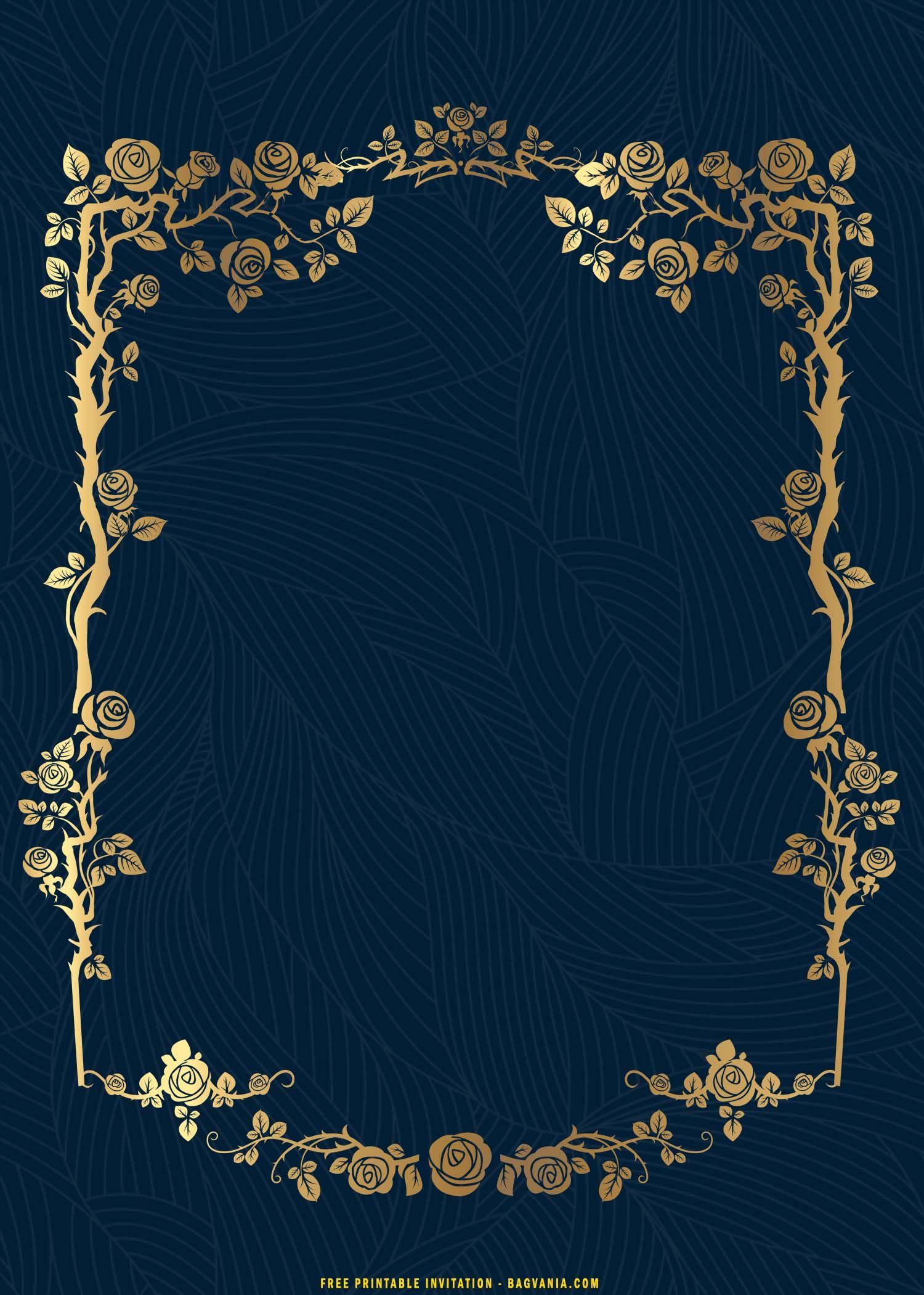 Free Printable Luxury Vintage Gold Mandala Invitation Templates Free Printable Birthday Invitations Invitations Invitation Background