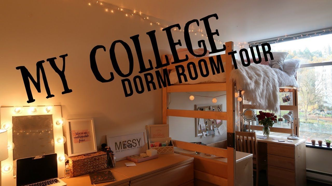 College Dorm Room Tour 2017 Portland State University Youtube University Dorms Small Dorm Room College Dorm Room Hacks