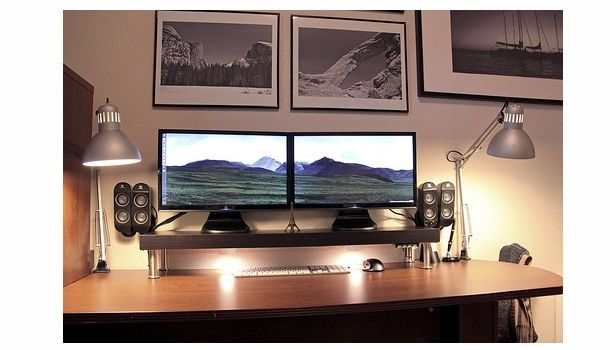 Mac Setups: Dual Screened Mac | Interior paint, Living ...
