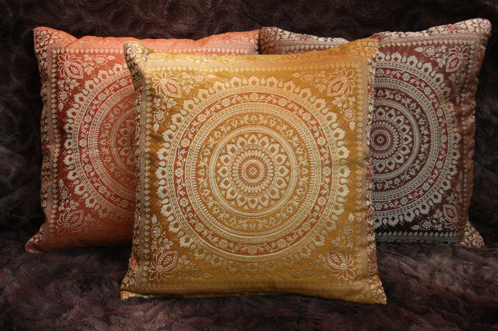Kissen Orientalisch.Mandala Kissenbezug Brokat Deko Kissen Indien Kissenhülle