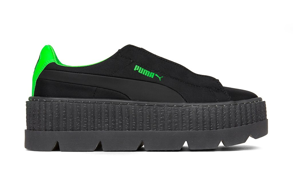 ab9671b7685 Puma x Fenty by Rihanna Women s Cleated Creeper Surf - Puma Black Green  Gecko