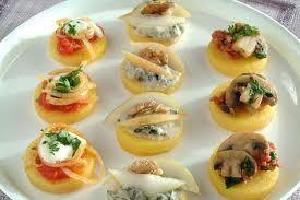 Tartine miste di polenta e verdure veg