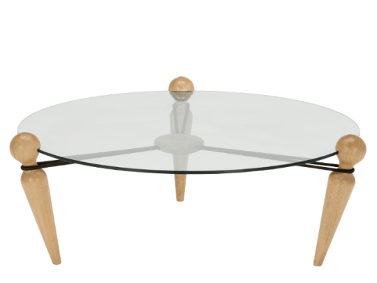 Aula Table Basse Laiton Brosse Et Verre