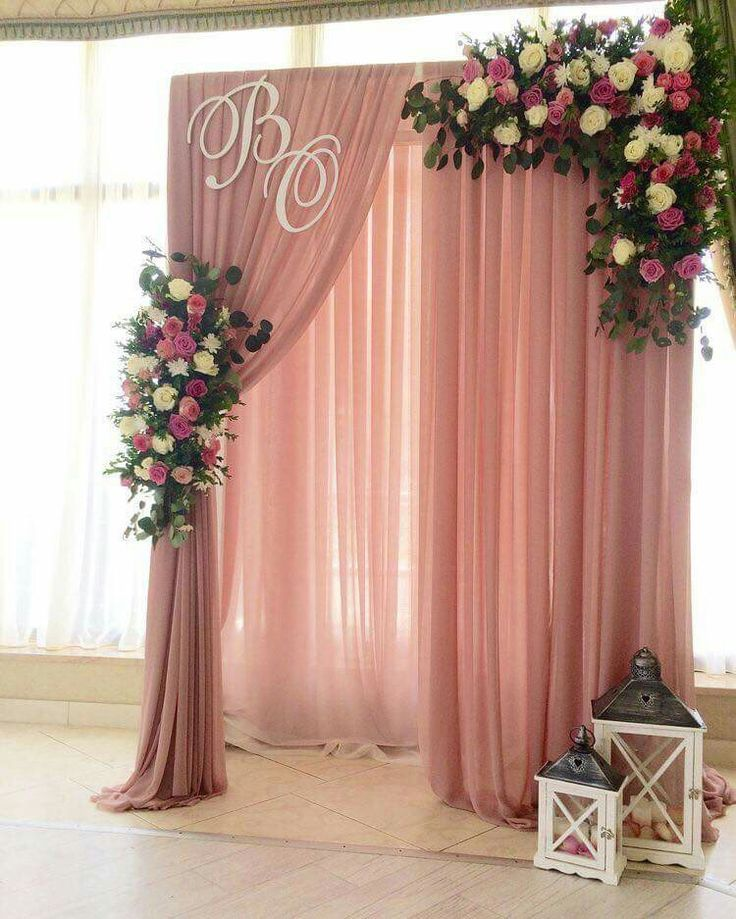 Beautiful Indoor Wedding Ceremony: Beautiful Backdrop Idea Could Be Done In Any Color