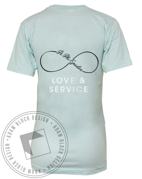 Pi Phi Epsilon Love & Service Vneck by Adam Block Design | Custom Greek Apparel & Sorority Clothes | www.adamblockdesign.com