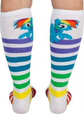 bc21ea4025f MLP socks inspiration Striped Knee High Socks