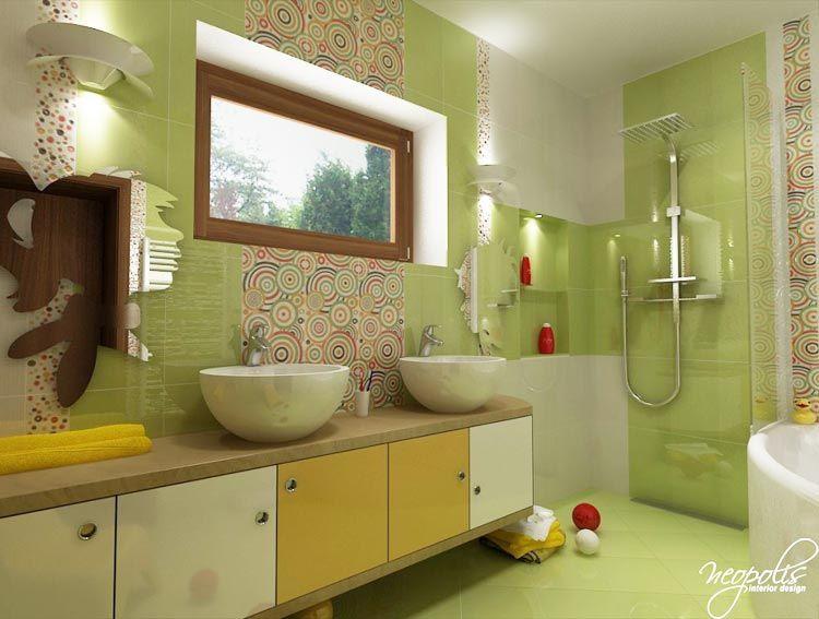 Hravá detská kúpeľňa Viac náhľadov tejto vizualizácie na - Plan Maison Sweet Home 3d