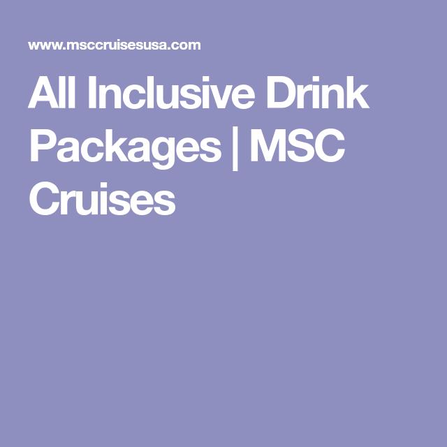 Drink Packages | Beverage packaging, Msc cruises, Drinks