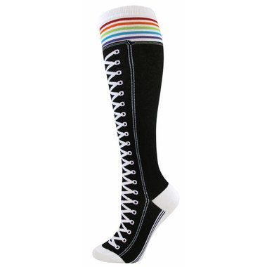 High Top Sneaker Knee High Socks
