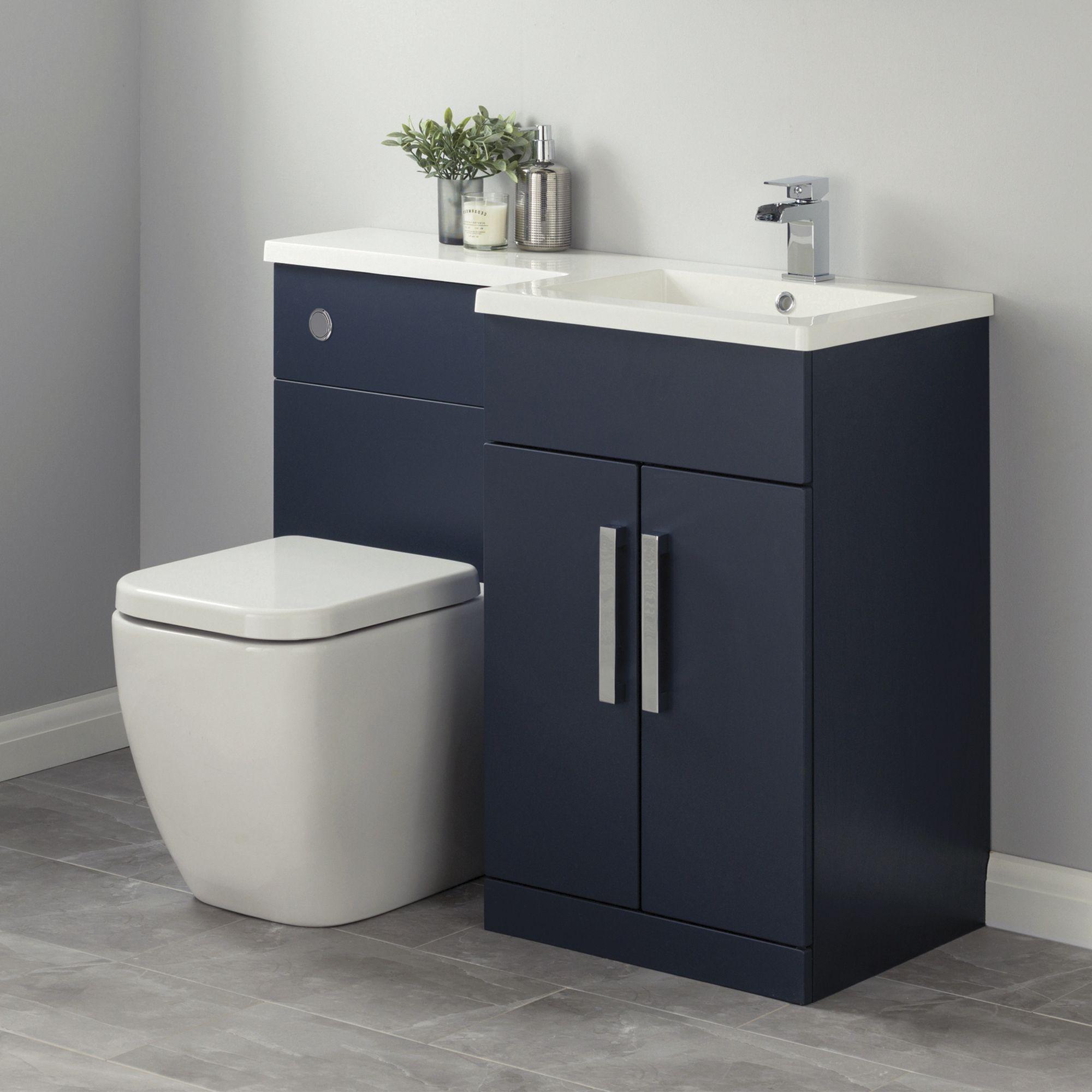 Cooke Lewis Ardesio Matt Indigo White Vanity Wc Unit Basin White Vanity Vanity Bathroom Vanity Units