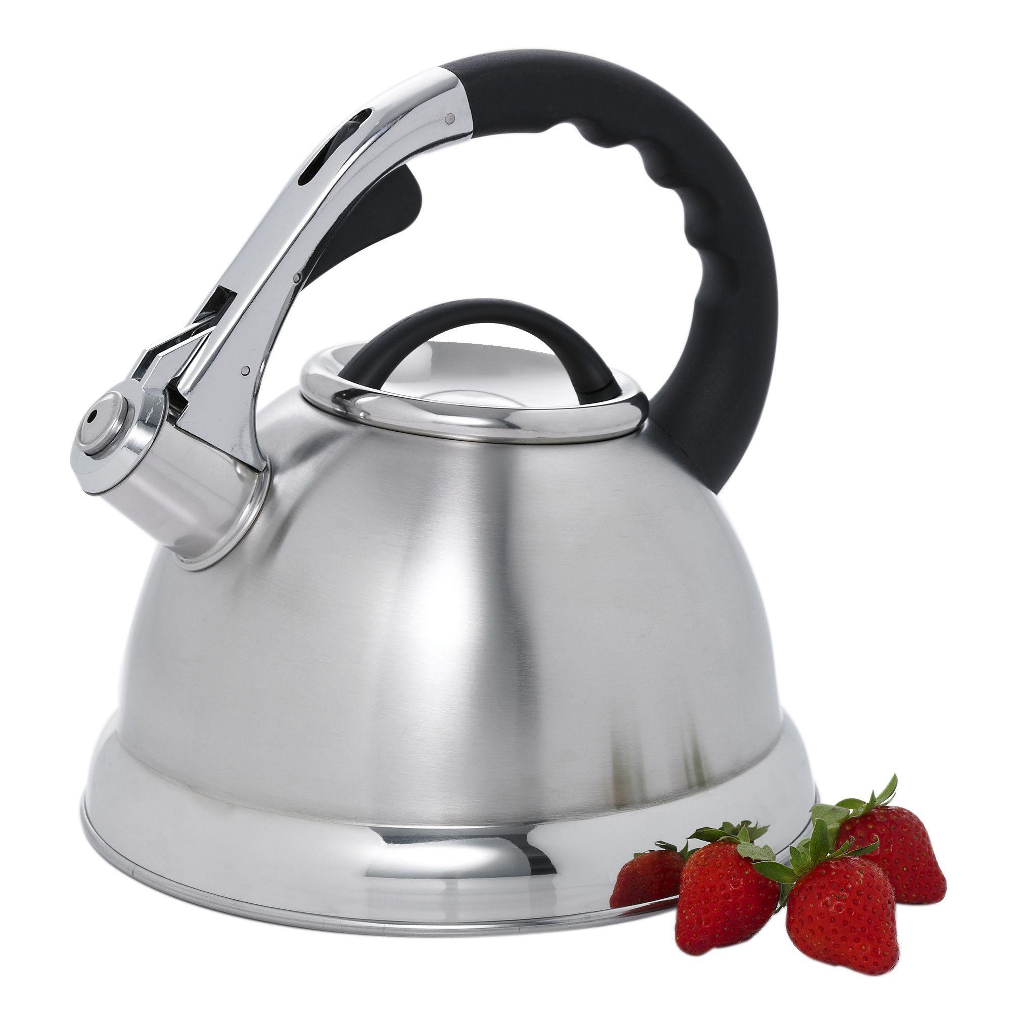 alexa 12 cup stovetop tea kettle in silver cookware pinterest