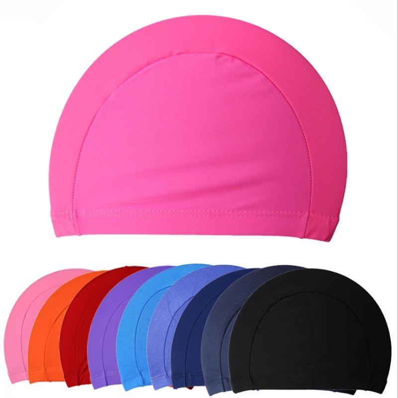 1PCS Unisex Elastic Swimming Cap Silicone Bathing Swim Waterproof Hat Caps Cover