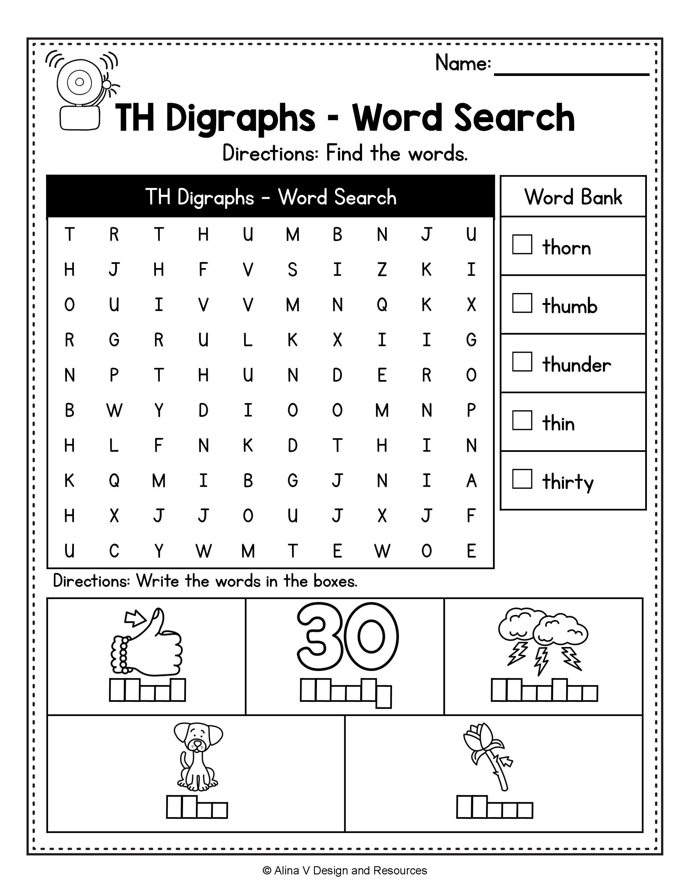 medium resolution of Consonant Digraphs Worksheets SH
