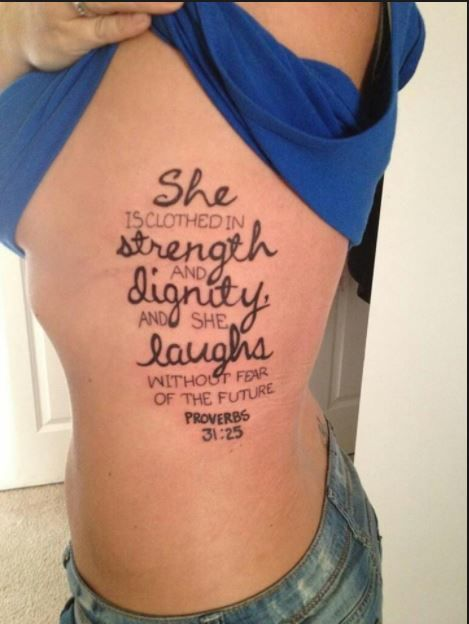 50+ Best Bible Verse Tattoos For Men & Women (2018 | Poppo ...