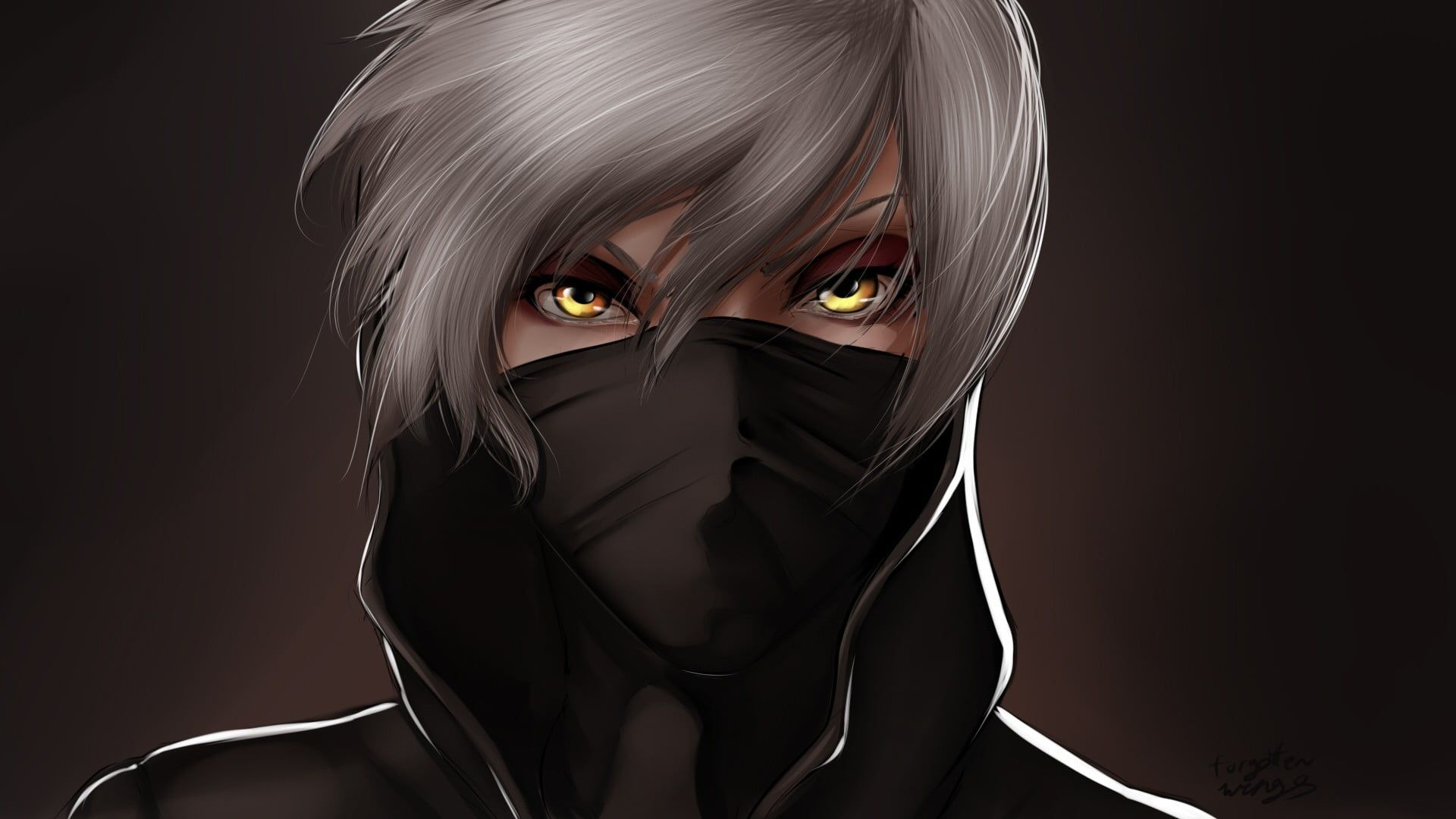 Anime Character Wearing Black Face Mask Hd Wallpaper Wallpaper Flare Anime Wallpaper Hd Anime Wallpapers Anime Hd
