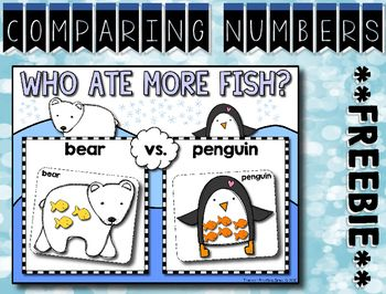 Photo of Comparing Numbers 1-12 — Winter Math Center ***FREEBIE***