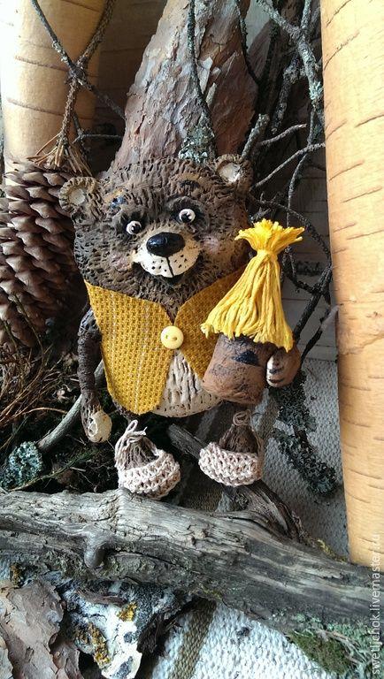 Купить Мишка пасечник) - коричневый, мишка, медведь ...