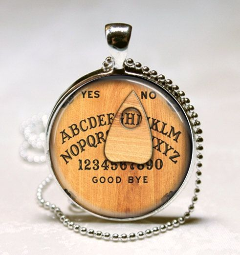 Personalized Jewelry Ouija Board Necklace You Choose the Letter Glass Bezel Pendant with Ball Chain Included (ITEM B026) by MissingPiecesStudio on Etsy https://www.etsy.com/listing/119225611/personalized-jewelry-ouija-board