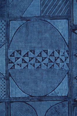 Adire Eleko cotton textile by the Yoruba people of Nigeria. ca.1960