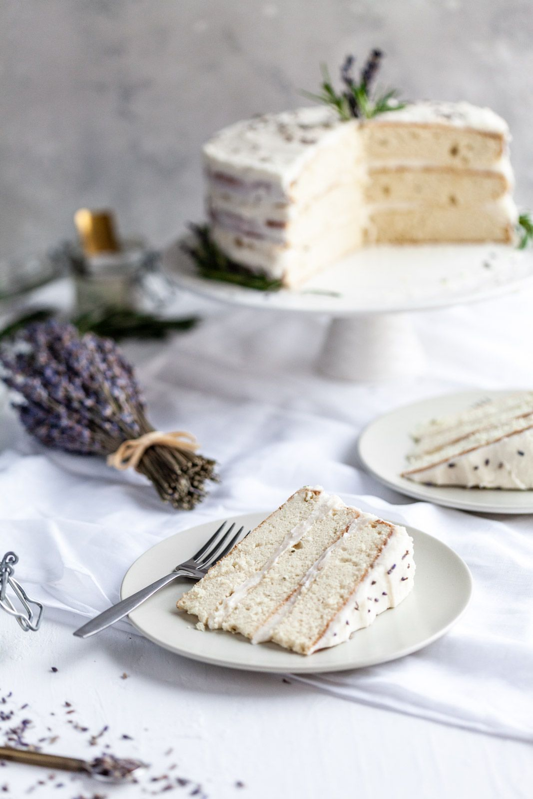 Photo of Rosemary Lavender Cake With A Lavender Buttercream •Olive & Mango