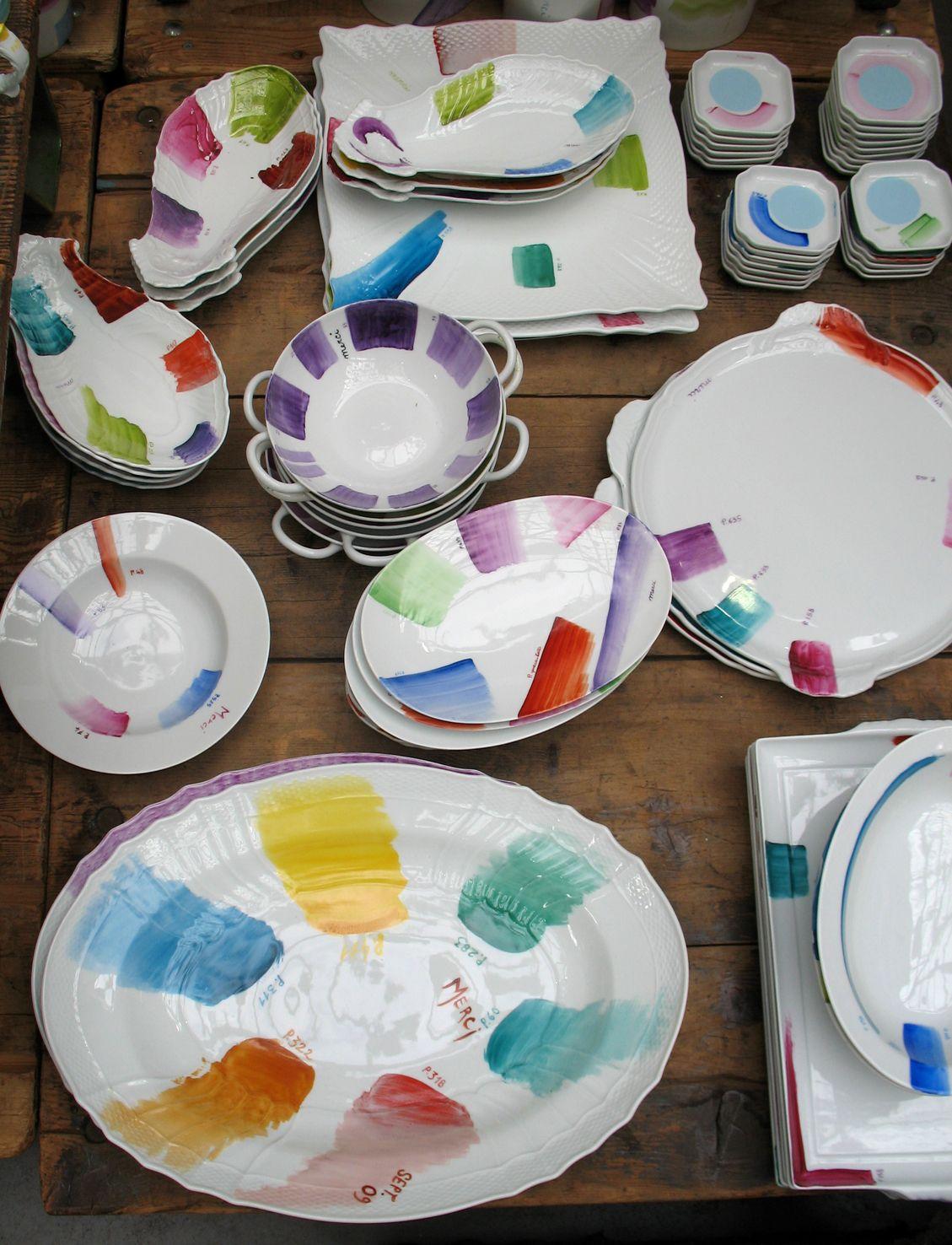 Richard Ginori plates - by Paola Navone u0027one offu0027 at Merci ... & Richard Ginori plates - by Paola Navone: u0027one offu0027 at Merci Paris ...