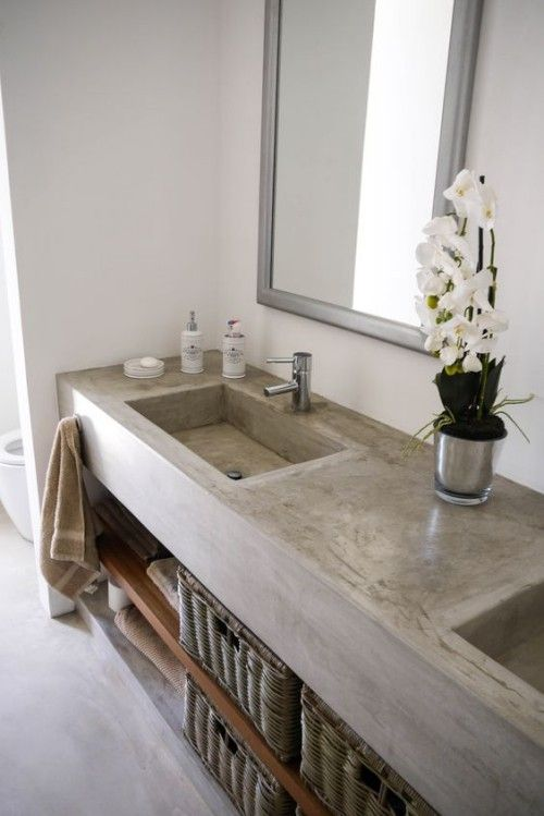 Naturstein-Waschbecken im Kontext moderner Badezimmer Trends #rusticbathroomdesigns