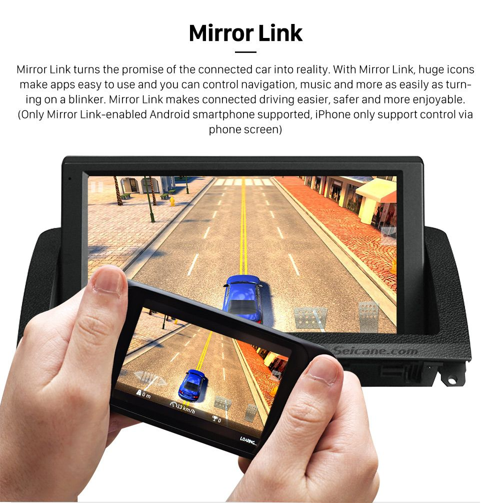 Mirror Link 8 Inch HD 1024*600 Touchscreen Android 5 1 1