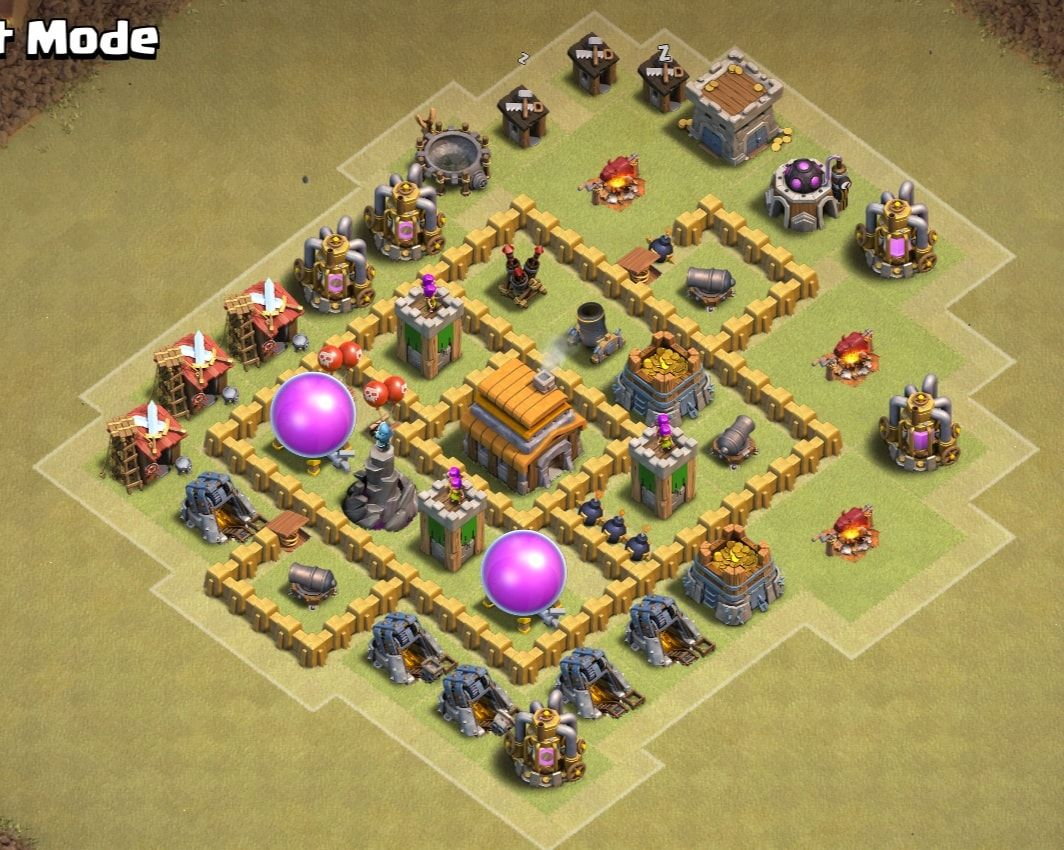 6 Best Town Hall 5 Th5 War Base Of Coc 2020 With A Link Town Hall Th 5 Clash Of Clans Game