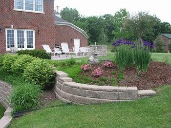 Image result for retaining wall ideas for sloped backyard