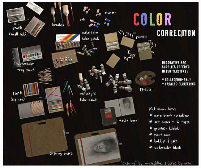 color correction - art supply deco | Clutter and Misc