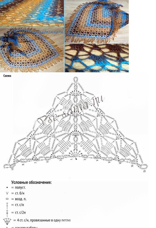 Pin van Anneke Patteet op I <3 crochet wraps | Pinterest - Croché ...