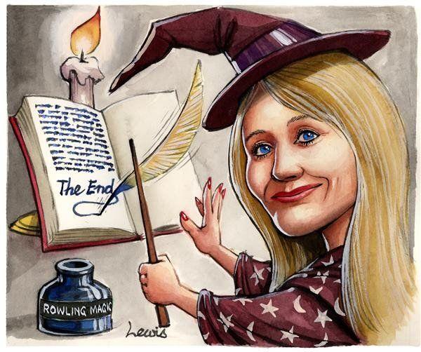 Jk Rowling Duena Del Mundo Magico Dibujos Animados De Harry Potter Mundo Magico Peliculas De Harry Potter
