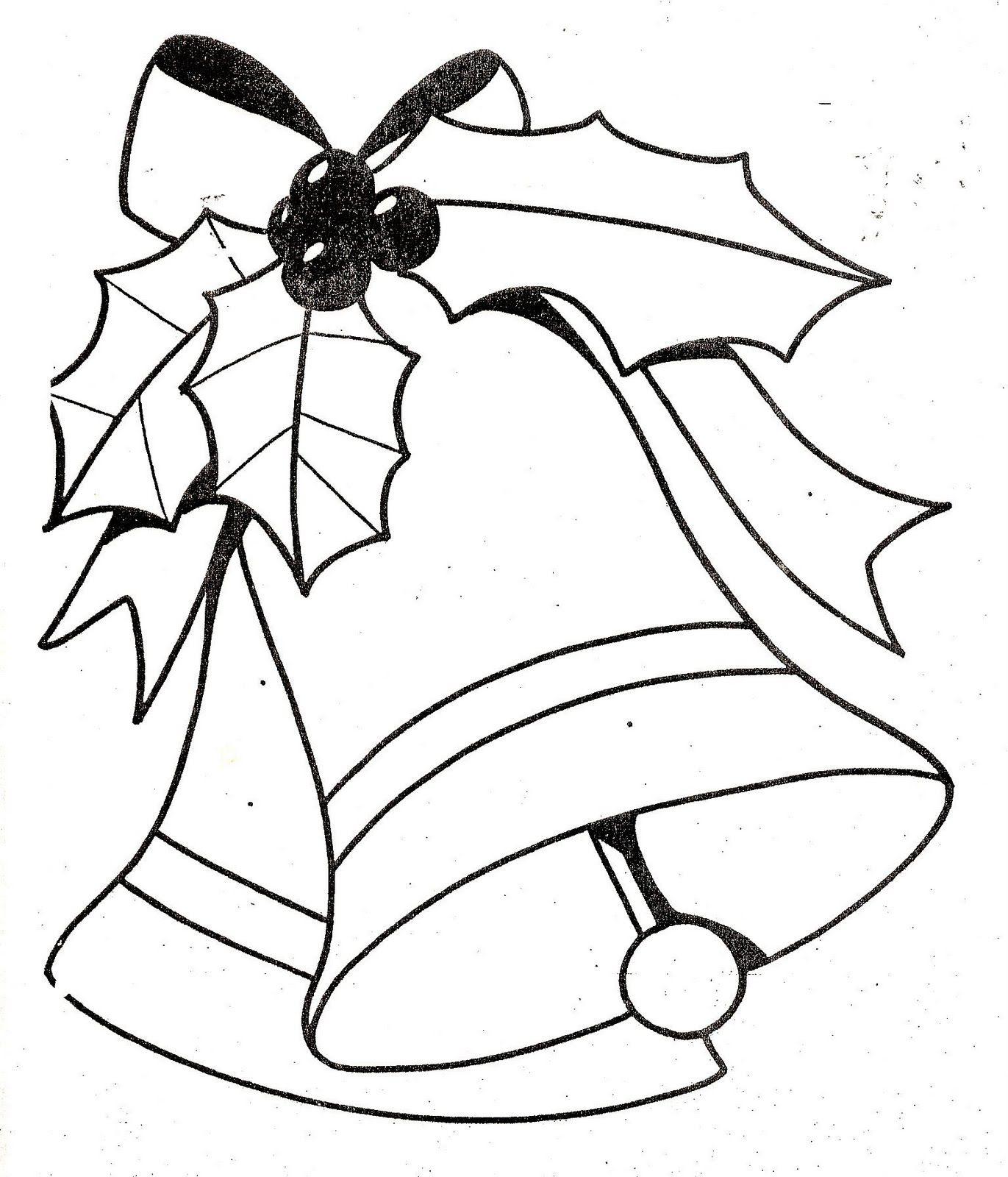 Dibujos Y Plantillas Para Imprimir Campanas Navidad Dibujo Navidad Para Colorear Campanas De Navidad Figuras De Navidad
