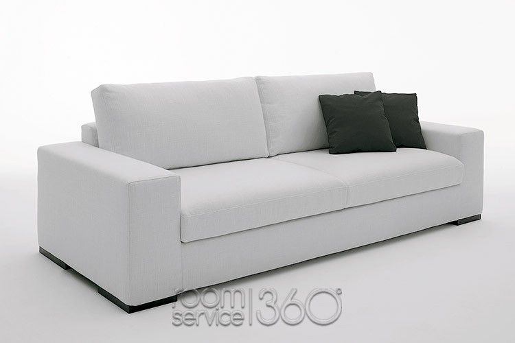 Family Designer Sleeper Sofa in White Leather by Pianca ...