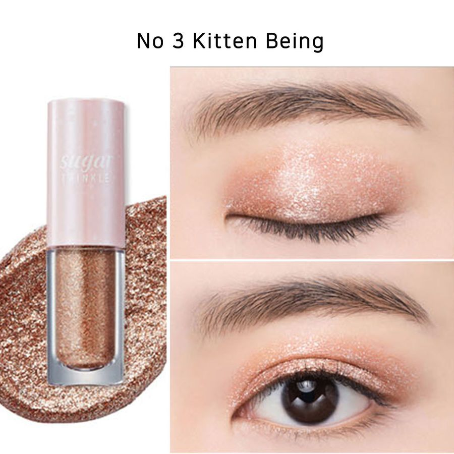 Peripera Sugar Twinkle Liquid Shadow 6 Color Glitter Shadow Korean Eye Makeup Liquid Shadow Twinkle Liquid Shadow Eye Makeup Items Korean Eye Makeup