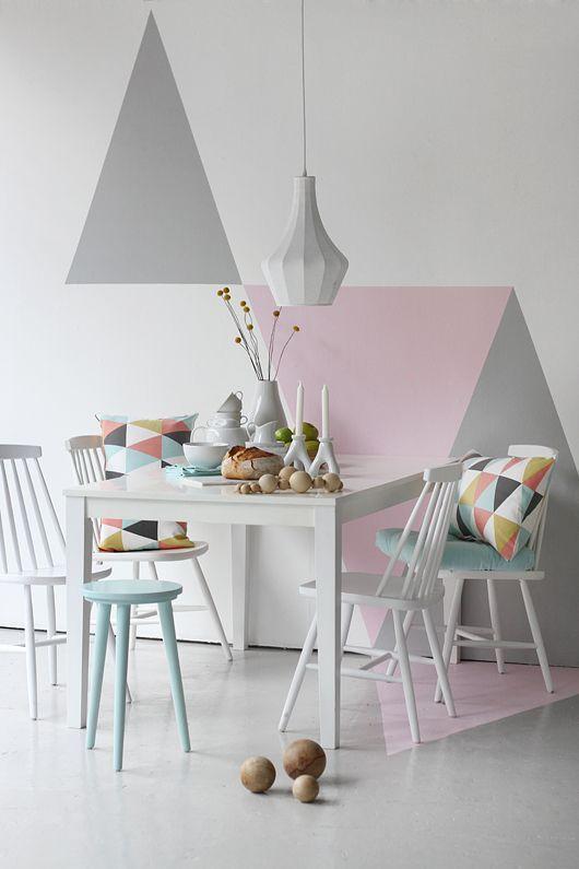 Tudo Sobre Decoração   # Decorações Geométricas #   Pinterest   Pastell Und  Wohnen