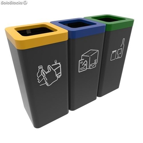 resultado de imagen de papeleras reciclado exterior contenedores papelera reciclaje. Black Bedroom Furniture Sets. Home Design Ideas