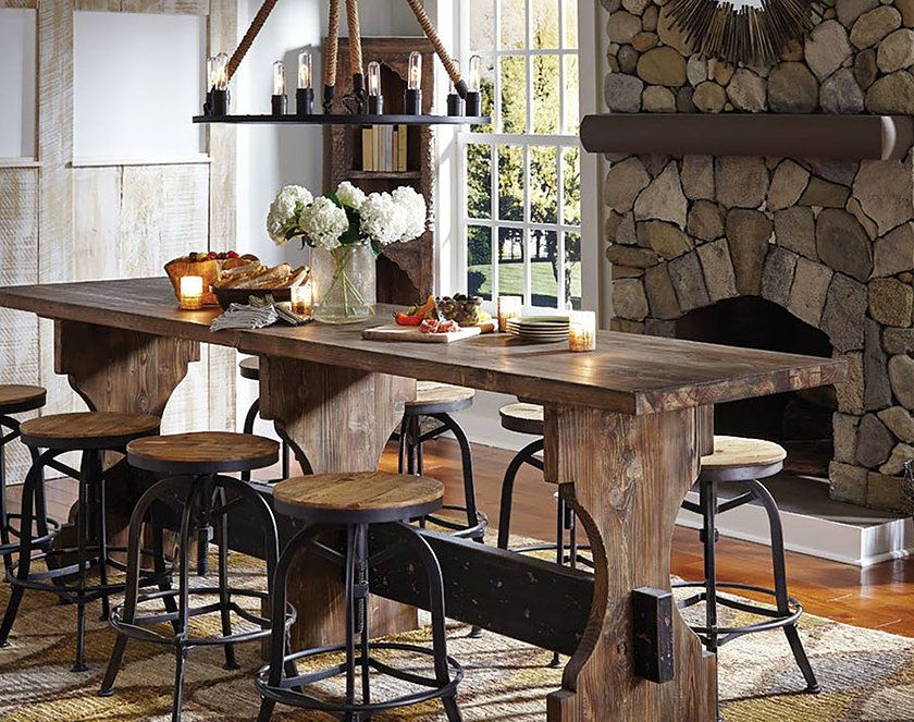 Gorgeous Farmhouse Tables Gathering And Stools From Reclaimed Wood Exquisite Lighting Rugore Strick S Online