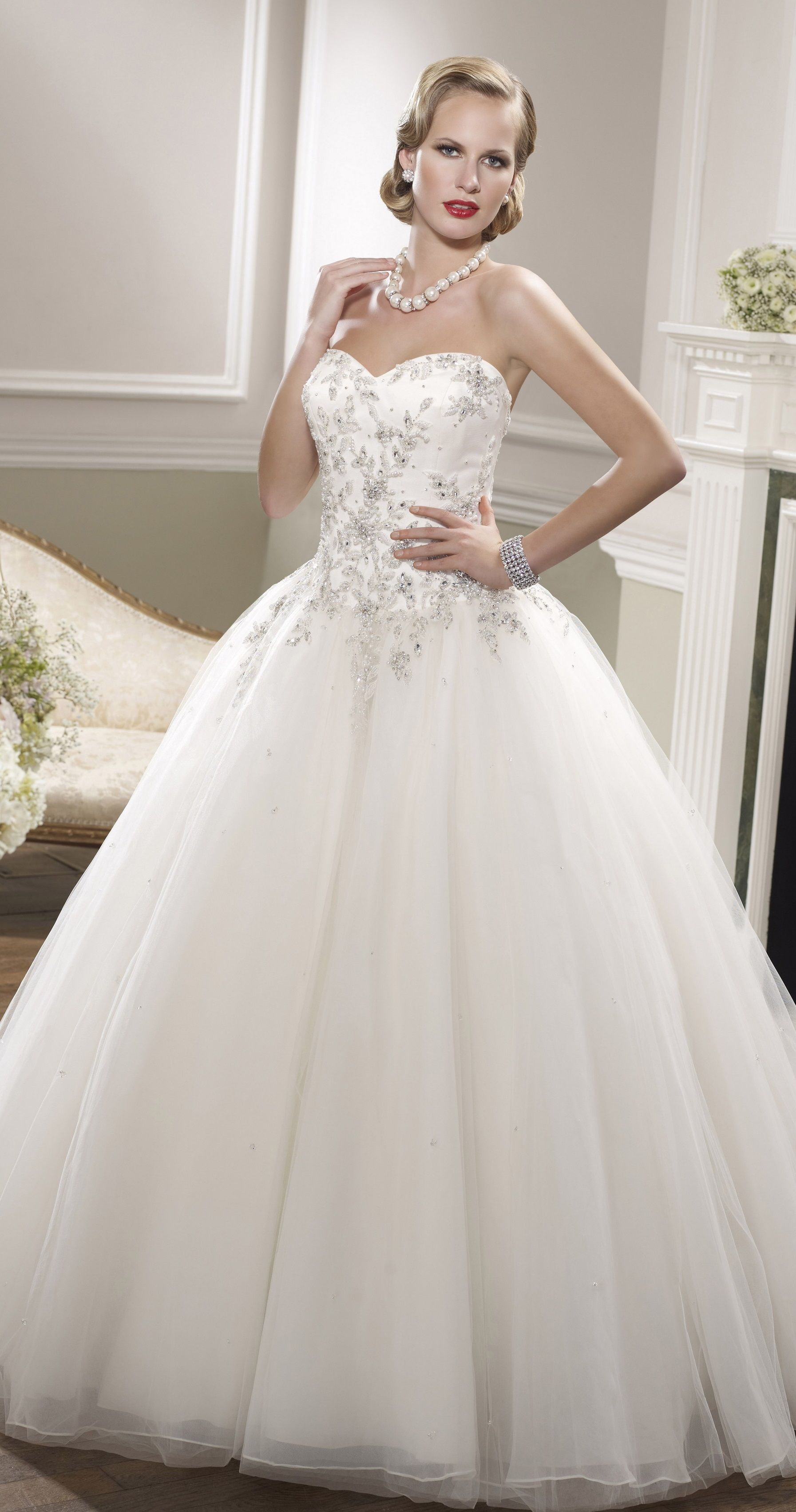 Princess Wedding Dress Ronald Joyce Wedding Dress Organza Sweetheart Wedding Dress Tulle Wedding Dress [ 3402 x 1793 Pixel ]