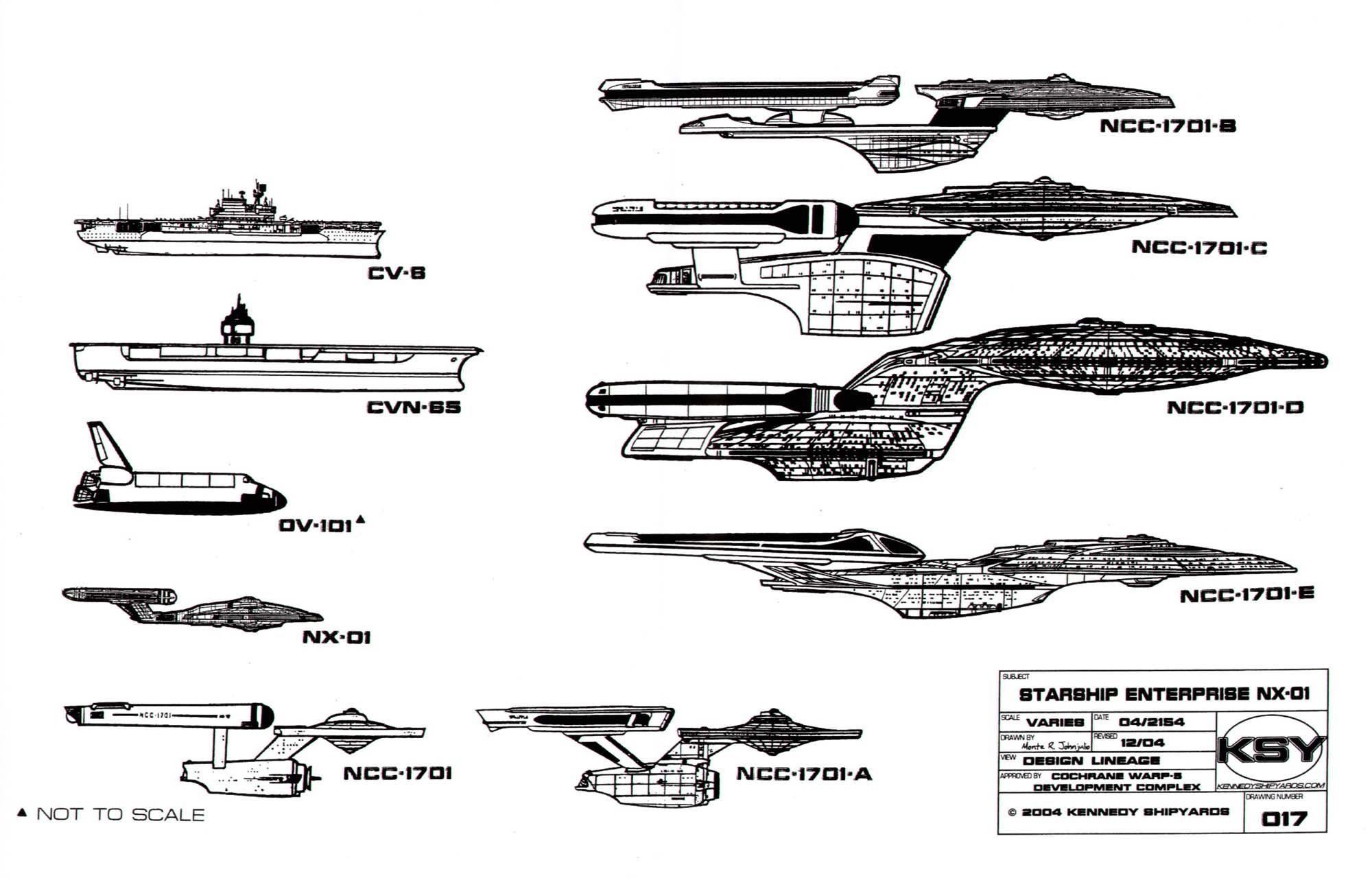 Starship Enterprise (NX 01)   Star Trek Blueprints: Starfleet Vessel Enterprise  NX 01