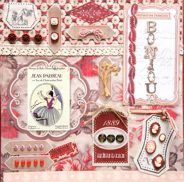Collage Red Brown Crafts Cards Handmade Craft Inspiration