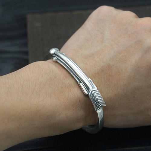 Men S Sterling Silver Arrow Cuff Bracelet Men S Silver Jewelry
