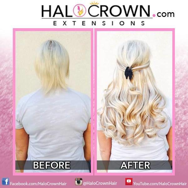 Halo Crown Hair Extensions No Clips No Glue No Damage Color 608p